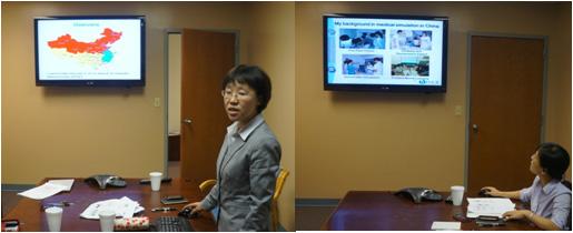中南大学临床技能训练中心主任薛志敏教授访问美国